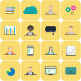 Set of business icons. Stock Images