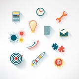 Set of business icons. Flat design. Vector Stock Images