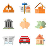 Set of business icons Stock Images
