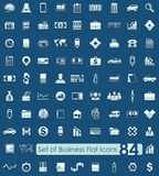 Set of business icons. Set of business flat icons for Web and Mobile Applications Royalty Free Stock Images
