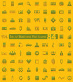 Set of business icons. Set of business flat icons for Web and Mobile Applications Stock Images