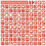 Set of business icons. Set of business flat icons for Web and Mobile Applications Royalty Free Stock Image