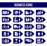 Set of 20 business icons. Set of 20 business icons in form of bullet List royalty free illustration