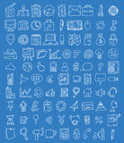 Set of business icons, Hand drawn vector illustration. Royalty Free Stock Images