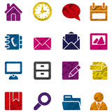 Set of business icons. Illustrated set of different business icons on a white background Royalty Free Stock Image