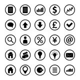 Set of business icons. Illustration Royalty Free Stock Photos