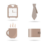 Set of business icons. Made in vector Royalty Free Stock Photography
