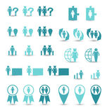 Set business icons, management and human resources Royalty Free Stock Images