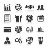 Set of business icons, management and human resources. Vector illustration Stock Photos