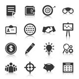 Set of business icons, management and human resources. Vector illustration Stock Image