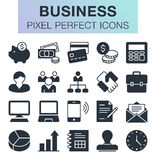 Set of business icons. Royalty Free Stock Photography