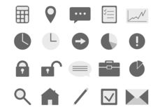 Set of business icons royalty free illustration
