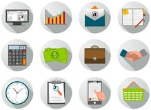 Set of business icons Royalty Free Stock Photography