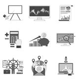 Set of business icons and symbols Stock Images