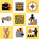 Set of business icons universal set for web and mobile. Stock Image
