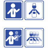 Set of business icons. Vector set of business icons Stock Photography