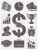 Set of business icons. Vector Royalty Free Stock Images