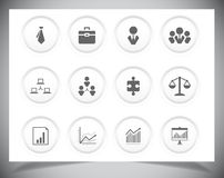 Set of business icons. Vector illustration eps10 Royalty Free Stock Images