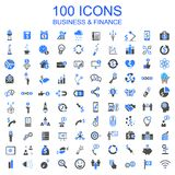 Set of 100 Business Icons - vector. Set of 100 Business Icons - stock vector Royalty Free Illustration