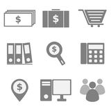 Set of business icons on white background Stock Photos