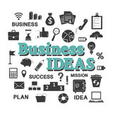 Set for business idea Royalty Free Stock Image