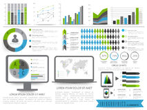 Set of Business Infographics elements. Stock Image