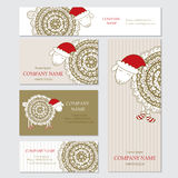 Set of business or invitation cards templates, corporate identit Stock Photo