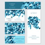 Set of business or invitation cards templates, Royalty Free Stock Photo