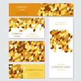Set of business or invitation cards templates, Stock Photos