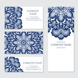 Set of business or invitation cards templates, Royalty Free Stock Image