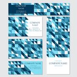 Set of business or invitation cards templates, Stock Image