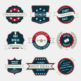 Set of business labels and ribbons in vintage style. Stock Images