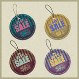 Set of business labels and sale tags Stock Images