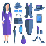 Set  business ladies, clothes and Royalty Free Stock Photography