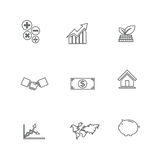 Set of business line icon, isolated on white background 008 Stock Photos