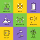 Set business logo Stock Photography