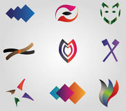 Set of business logos. Collection of business logos Royalty Free Stock Photography