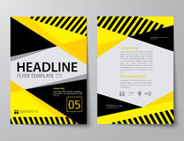 Set of business magazine cover , flyer, brochure flat design tem Royalty Free Stock Photo