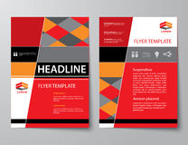 Set of business magazine cover , flyer, brochure flat design tem Stock Photo
