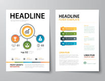 Set of business magazine cover , flyer, brochure flat design tem. Vector set of business magazine cover , flyer, brochure flat design templates Stock Photography