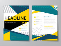 Set of business magazine cover , flyer, brochure Royalty Free Stock Photos