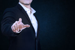 Set 9. business man acting his hands. Stock Images