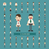 Set of business man characters Stock Photos