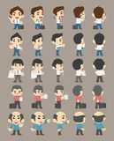 Set of business man characters Royalty Free Stock Images