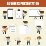 Set of business man presentation Stock Images