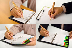 Set Of Business Man Writing Stock Image