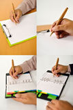 Set Of Business Man Writing Stock Images