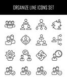 Set of business management icons in modern thin line style. Stock Images