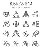 Set of business management icons in modern thin line style. Royalty Free Stock Photos