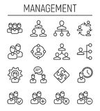 Set of business management in modern thin line style. Royalty Free Stock Images